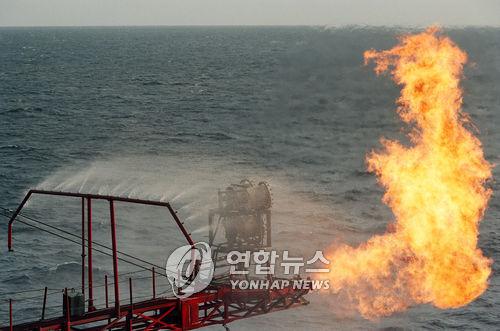 대륙붕 6-1광구에서 가스 발견[연합뉴스 자료사진]