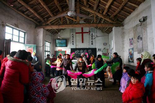 춘제 맞은 중국의 개신교 신자들(EPA=연합뉴스)