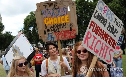 낙태 금지 항의 시위 [로이터=연합뉴스]