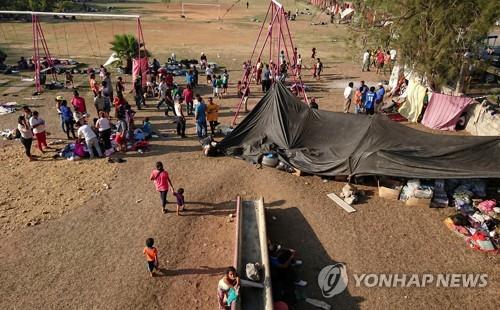 '캐러밴' 중미 출신 이민자들[로이터=연합뉴스]