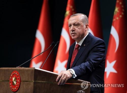 """터키 에르도안 """"6월 24일 조기 대선·총선 실시"""""""