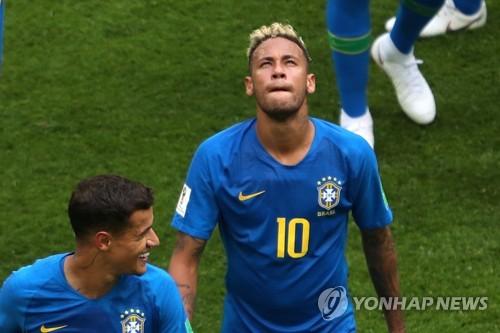 [월드컵] 추가 골 터트린 네이마르, 끝내 울었다