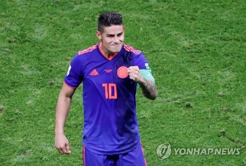 [월드컵] 4년 전 득점왕 하메스 '특급 도우미'로 기지개