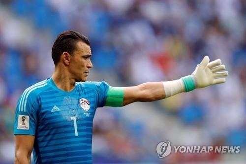 [월드컵] '최고령' 이집트 골키퍼 하다리, 빛바랜 선방(종합)