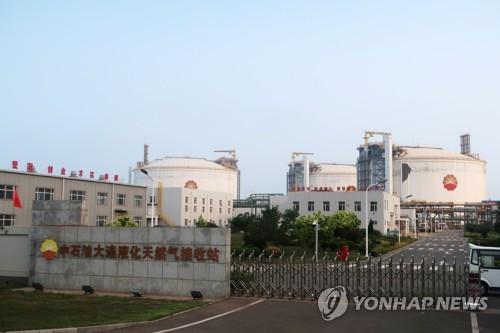 중국 다롄의 페트로차이나 LNG 저장 시설[로이터=연합뉴스 자료사진]