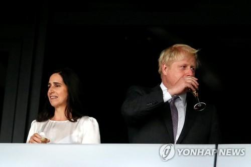 이혼을 결정한 보리스 존슨 전 영국 외무장관과 부인 마리나 휠러 [로이=연합뉴스]