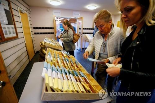 스웨덴 총선 투표 시작 [로이터=연합뉴스]