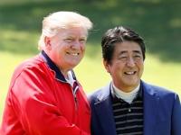 트럼프-아베, 일본서 5번째 골프 라운딩…브로맨스 과시