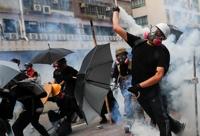 홍콩 주말집회 시민·경찰 충돌…열흘여 만에 최루탄 다시 등장