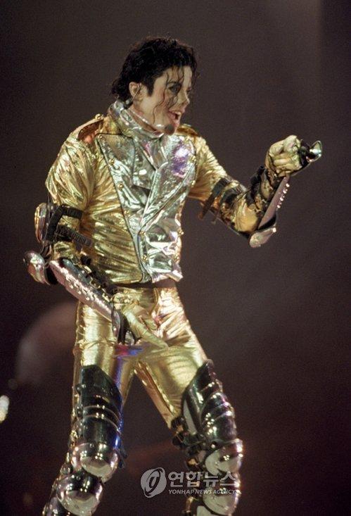 1996년 한국에서 공연하는 마이클 잭슨