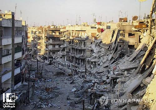 정부군 전투기 폭격에 주택가 '폭삭'