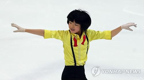 2013년 1월 초등학생 차준환의 쇼트 연기