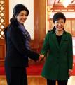 Park meets Thai prime minister