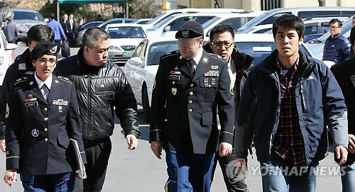 '도심난동' 미군 하사 재출석