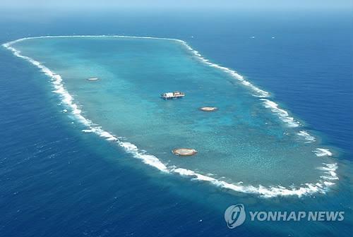 일본, 오키노토리에 항구공사 개시(교도.연합뉴스.자료사진)