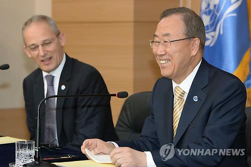 반기문 유엔사무총장 기자회견
