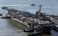 U.S. supercarrier George Washington arrives in Busan