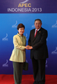 Park with Indonesian president