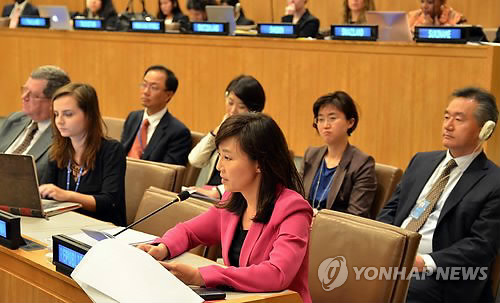 조윤선 장관, 유엔총회서 일본에 위안부 문제 해결 촉구