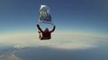 Skydiver promotes S. Korea's Dokdo islets