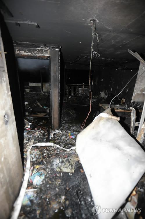 화마 덮친 아파트