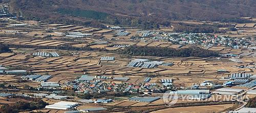 마현1리 전경