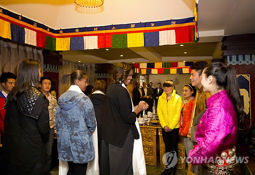 티베트 전통 음식점 찾은 미셸