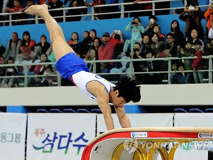 양학선, 코리아컵 국제체조대회 男 도마 우승