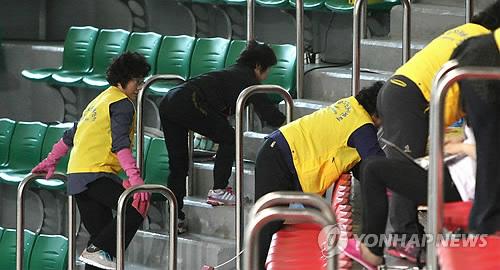 봉사활동 하는 천안함 46용사 유가족