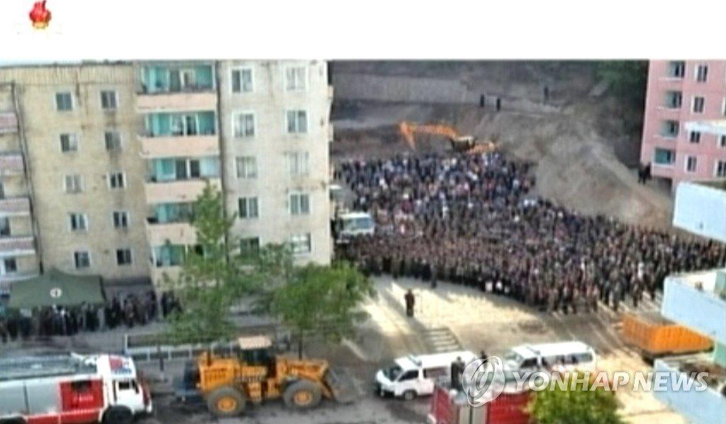 北서 23층 아파트 붕괴사고…주민에 이례적 사과