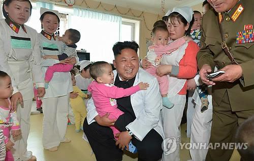 北 김정은 부부, 군인 치료 전문 대성산종합병원 방문