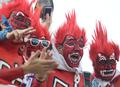 吸引眼球的韩国球迷