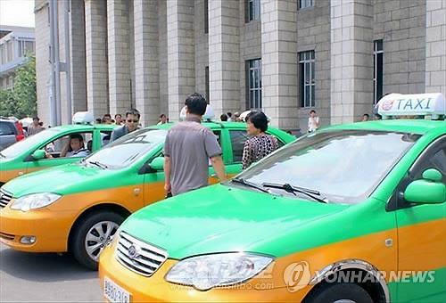 북한 평양의 '대동강 택시'