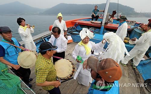 만선 기원 추자도 용왕제[연합뉴스 자료사진]