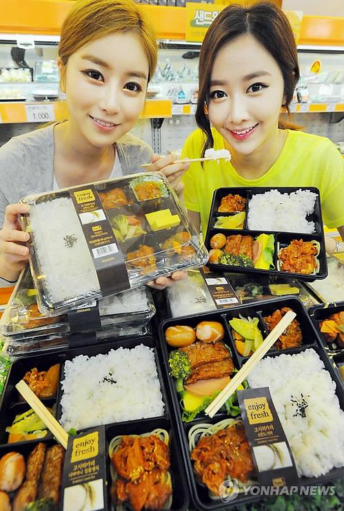 韓国でコシヒカリ弁当発売