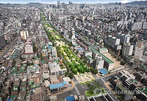 서울 국회대로 상부 공원화