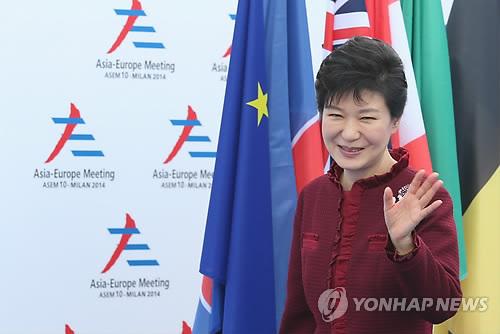 """朴대통령 """"유라시아 동서 잇기위해 北연결 중요""""   연합뉴스"""