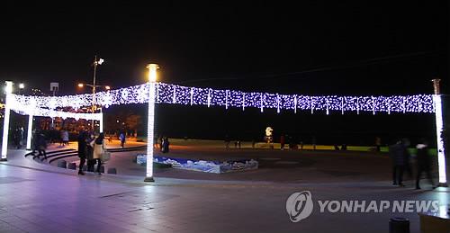 2014년 해운대 빛 축제 [연합뉴스 자료사진]