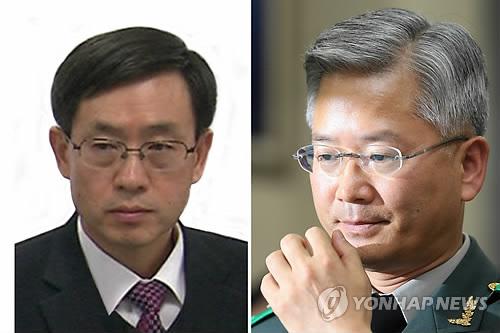 연제욱(왼쪽)·옥도경 전 사이버사령관 [연합뉴스 자료사진]