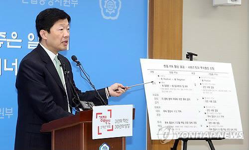 韩中草签自贸协定