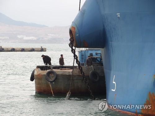 '나진-하산 프로젝트' 2차 시범운송 출항 준비