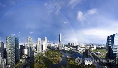 인천경제자유구역 송도국제도시 전경