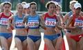 女子竞走比赛现场 英姿飒爽