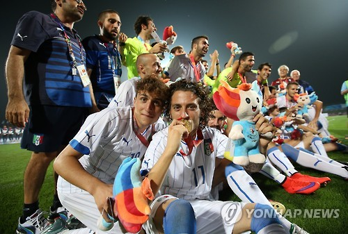 Italy wins gold in men's football at Universiade
