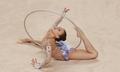 孙妍在获艺术体操个人单项圈操金牌