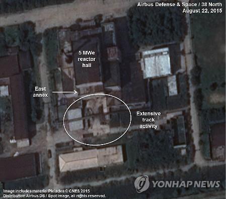 """38노스 """"영변 핵시설 활동 활발해져…플루토늄 생산 의심"""""""