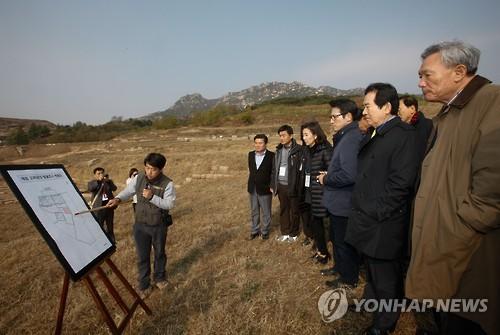 국회 외통위, 개성 만월대 현장시찰