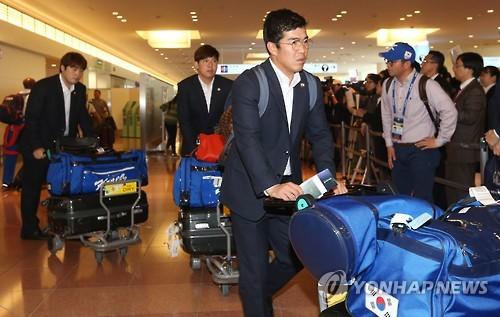 4강 결전 앞둔 대한민국 대표팀 일본 입성