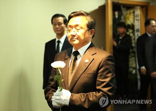 中国外交部副部长刘振民吊唁金泳三