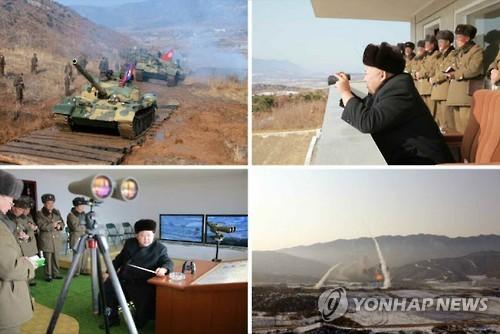 """북한 김정은, 쌍방기동훈련 참관…""""실용적 훈련 많아야"""" 주문"""